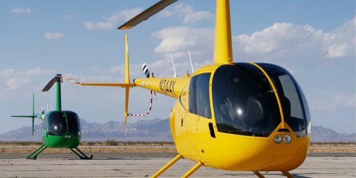 Полет 2 вертолета