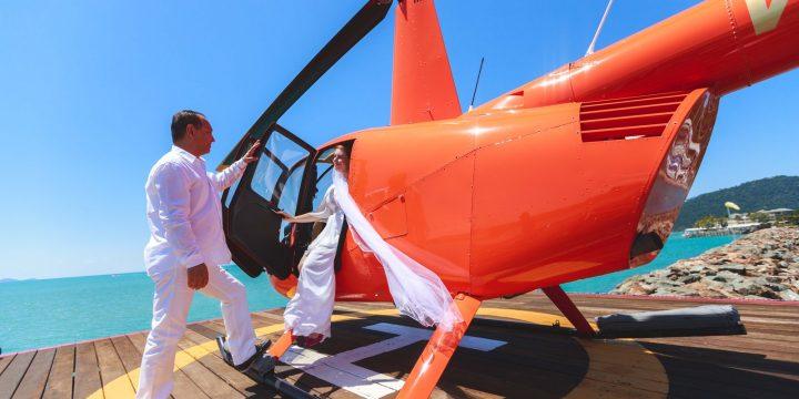 Свадебный полет на вертолете