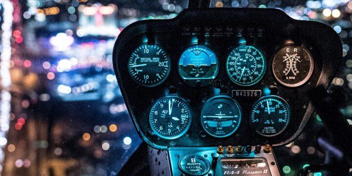 Ночной полет на вертолете